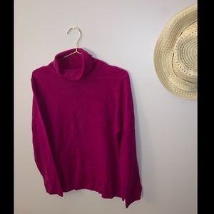 Charter Club Luxury 100% Cashmere Magenta Sweater